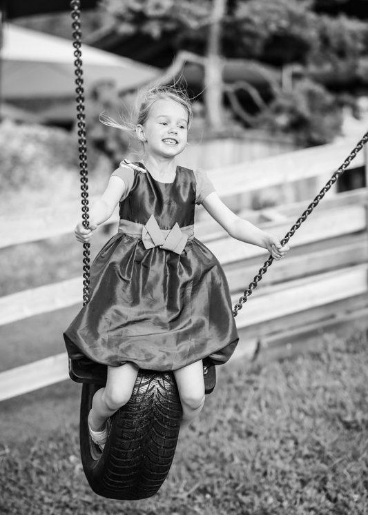 Outdoor Fotoshooting Kids Schaukel